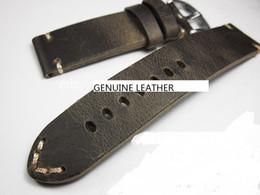 Wholesale crazy bracelets - top grade crazy horse leather hand made watch strap bracelet band genuine leather watch strap wristwatch fix parts accessory change