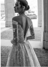 Canada Robes de mariée de luxe 2019 haut de gamme Magnifiques robes de mariéeUne ligne lorsque vous combinez des silhouettes élégantes et intemporelles avec des ornements éblouissants Offre