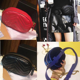 mini trunks Coupons - Top Quality Women Marmont Waist Bags Matelassé Mini Belt Bag 7 Colors Lady Clutch And Purse Black Red Pink Shoulder Crossbody Bags