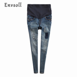 b02dfe34bb146 2017 New Maternity Jeans Pants For Pregnant Women Trousers Spring Autumn  Blue Denim Suspender Jumpsuit Plus Size P12