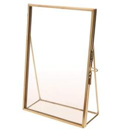Бесплатные портретные фотографии онлайн-Простой фото рамка античная латунь стекло фото рамка портрет бесплатный стенд качество подарок для свадьбы друзья украшения дома
