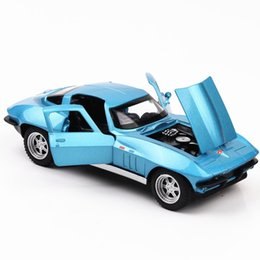 fast furious gifts NZ - The Fast Furious 8 Corvette C2 Diecast Metal 1 32 Scale Pull Back Car Toy Gift   Collection   Children