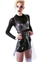 Новый модный ПВХ юбка прозрачный бюстгальтер ясно юбка Waterpoof юбки Мода модель показать прозрачный линия молния женщины сексуальные костюмы cheap bra pvc от Поставщики бюстгальтер пвх