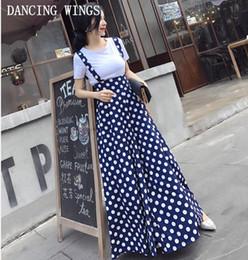 Canada Mode d'été Dos Nu Polka Strap Print Mousseline De Soie Larges Pantalon Femmes Combinaison Vestidos cheap wide legged chiffon jumpsuits Offre