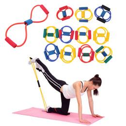 2Pc Bande di resistenza fascia sport elastico para exercicios Yoga Pilates Abs Esercizio Stretch Attrezzature per il fitness Tubo bande di allenamento da