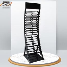 stand debout ipad Promotion Présentoirs de vente chauds pour les tuiles / la vente au détail de fil métallique en poudre revêtue de céramique dalles de présentoirs en métal présentoirs en métal