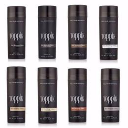 Wholesale Wholesale Hair Fibers - toppik hair building fibers 27.5g Toppik Hair Fiber Thinning Concealer Instant Keratin Hair Powder Black Spray Applicator