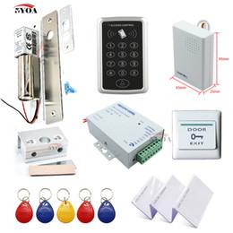 2019 módulo leitor rfid 5YOA Sistema de Controle de Acesso RFID DIY Kit Porta De Vidro Abridor de Portão Conjunto Eletrônico Bolt Lock ID Cartão de Alimentação Botão DoorBell