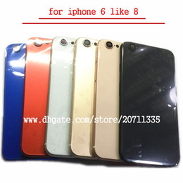 Wholesale rear door - AA quality For iPhone 6 Like 8 Style 8 PLUS Back Rear Cover Battery Housing Door Chassis Middle Frame