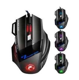 Wholesale X7 Gaming Mouse - IMice USB Gaming Mouse 7 Button 2400DPI LED Optical Wired Cable Computer Mouses Gamer Mice For PC Laptop Desktop X7 Game Mouse