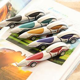 Plastikkugeln stift online-Nette Kawaii Kugelschreiber Cartoon Kunststoff Marker Kreative Auto Kugelschreiber Schreibwaren Büro Schulbedarf Student Geschenke Preise Lernen Spielzeug