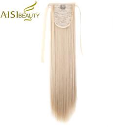 """Seidiger pferdeschwanz online-AISI BEAUTY 22 """"Silky Straight 15 Farben Synthetic Hair Ribbon Drawstring Pferdeschwanz Stück Extension"""