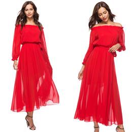 С плеча платье с линией тонкий сплошной красный цвет шифоновое платье плюс размер дата помолвки платье от