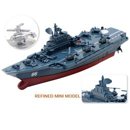 Wholesale toy boat races - 2018 New RC Boat 2.4GHz Remote Control Ship Warship Battleship Cruiser High Speed Boat RC Racing Toy
