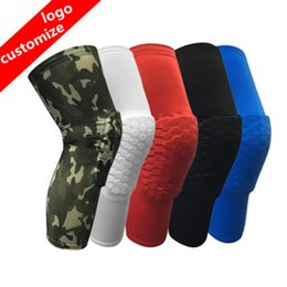 Wholesale Wholesale Cycles - 2018 Brand safety basketball knee pads for Adult Antislip honeycomb pad Leg knee support calf compression kneecap cycling knee protector R09