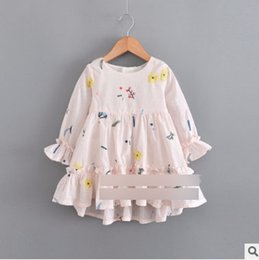 Wholesale Boat Neck Cardigan - Baby girls knited sweater cardigan little girls hollow crochet single breasted outwear 2018 spring new children long sleeve tops R2088