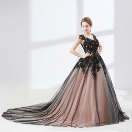 Wholesale Evening Gowns Tail - 2018 elegant tail cocktail dress pure black lace appliqué evening gown legendary costume party can be customized