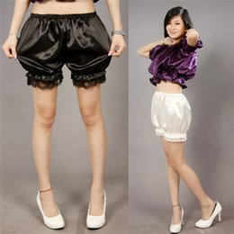 Wholesale Kawaii Pants - 3 Colors Kawaii Women's Soft Lolita Lace Bloomers Pumpkin Pants Scanties Ladies Girl Basic Safety Short Pant Cute Panties New
