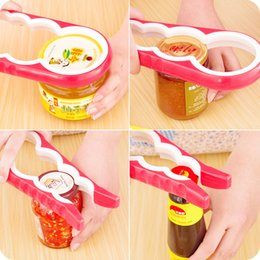 Wholesale Free Jar Opener - 4 In 1 Gourd-shaped Can Opener Multi Purpose Screw Cap Jar Openers Bottle Lid Grip Wrench Kitchen Accessories DHL Free Shipping