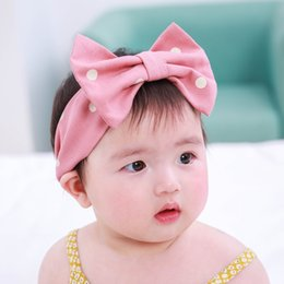 Wholesale Flexible Headbands - Cute Dotted Elastic Baby Girl Hairband Toddler Flexible Headband Young Lady Hair Accessories