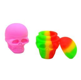 Wholesale types silicone paste - Silicone silicone skull smoke box silicone paste box storage box