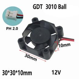 5pcs mini 12V 3cm 30x30x7mm 30mm DuPont Brushless Cooling Cooler Fan new HQ