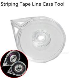 Disegno del chiodo facile online-YZWLE 1Pc Nail Art Striping Line Line Case Tool Sticker Box Holder Facile da usare Design DIY Utile
