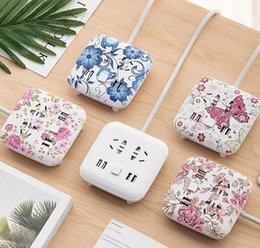 Wholesale Wall Climbing - Climbing wall usb socket creative desktop smart plug multi-function line card mobile phone charging wiring board safety