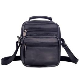 Mens kleine leder messenger bag online-Lässige Schultertasche Strap Herren Leder Kleine Messenger Bag Schulranzen Messenger Bag Bussiness Zipper Reisetasche Bolsa