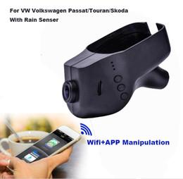 Wholesale passat dash - Dash Cam Novatek 96655 WiFi 1080P Car DVR Registrar Video Recorder For Volkswagen Skoda Passat With Rain Senser