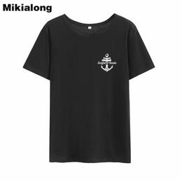 Bootshals-baumwollt-shirt online-Frauen T-Shirt Frau Win Sea Boats 2018 Grafik Tees Frauen Baumwolle Kurzarm Damen T-Shirt Top O-Ausschnitt Harajuku T-Shirt Femme Manche Courte