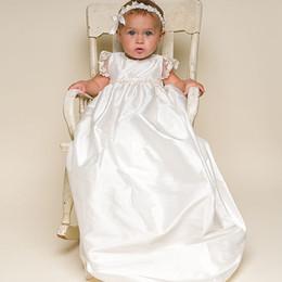Canada Nouvelle robe à manches courtes floral simple couche avec de la dentelle douce bébé long cent jours de lavage robe en gros Offre