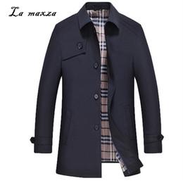2619007023a Plus Size 2018 Smart Casual Slim Mens Coats Overcoats Pockets Fashion  Winter Warm Dress Coat Mens