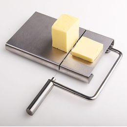 Corte de queijo on-line-Fio De Aço Inoxidável Cozinha De Metal Bar Cortar Queijo Slicer Cortador De Queijo De Manteiga Cortador De Queijo Fatia De Queijo Faca De Corte
