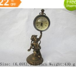 Wholesale Chinese Hood - Chinese ancient copper mechanical clock timer noble boy