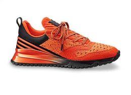 Chaussures décontractées noires brillantes en Ligne-Chaussures de marque pour hommes Mesh lacets baskets couleur noire VNR chaussures de course brillantes semelle extérieure chaussures de sport de qualité supérieure 1A3UHJ marque de luxe