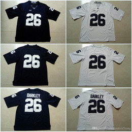 52055ad27 Penn State Nittany Lions #26 Saquon Barkley #9 Trace McSorley Blue White  Color Stitched College Football Jerseys Can Mix Order Free Shipping