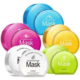 Pele de folha on-line-Horec Oil Controle Hidratante Rosto Facial Máscara Folha fresca não gorduroso clarear a pele Máscara Cosmética Cuidado Marca Tratamento