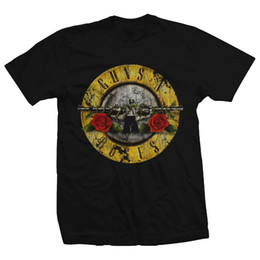 Magliette leggere online-Bravado Guns N Roses Distressed Bullet Lightweight T-Shirt Top Quality Cotton Casual Uomo T Shirt Uomo Spedizione gratuita