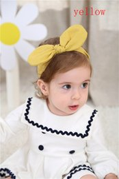 Wholesale Heart Hair Bows - 2018 Monochrome large ears with baby baby hair scarf wrapped head hair bow with children