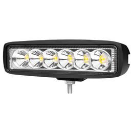Wholesale Auto Watts - 18 Watt Spot Flut FÜHRTE Arbeitslicht Bar 12 V 24 V LED Beams Für Auto 4x4 4WD Offroad SUV ATV Lkw Anhänger Lampe motorrad