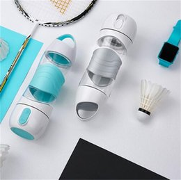 Wholesale press night light - DIDI Remind Drink Water Cup LED Practical Outdoor Sport Bottle For Spay Moisturizing Light Night Sos Emergency Kettle 58ts Y