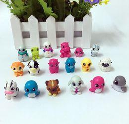 200 pcs Mini Tamanho 2.5 cm Lápis Topper Animal série Figuras de Ação Modelo PVC Brinquedos Presentes Para As Crianças de Fornecedores de ferro brinquedo homem azul