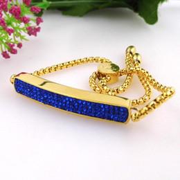 2019 bracelete de pulseira de ouro plano Atacado- New Fashion Flat Tag pulseira com corrente de cristal mão Charme 18k banhado a ouro pulseira para mulheres pulseiras de aço inoxidável pulseiras desconto bracelete de pulseira de ouro plano