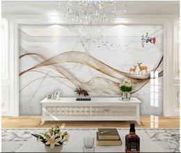 lining paper walls Promo Codes - 3d wallpaper custom photo New Chinese style abstract artistic conception line landscape painting mural TV muals wall paper for walls 3 d