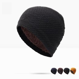Wholesale Real Gentleman - Winter Hat Real Solid Adult Man And Woman 2017 New Fashion Warm Wool Knitted Hat Korean Style Winter Skullies&beanies Cap For