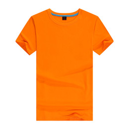 Wholesale T Shirt Advertising - Cotton short - sleeved men 's blank T - shirt wholesale solid color round collar advertising shirt custom clothing