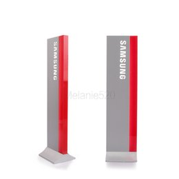 Wholesale Acrylic Retail Displays - LED Solid Acrylic Phone retail store Label Display Holder Advertising Leader Stand for iphone Samsung Huawei Mobile phone Shop