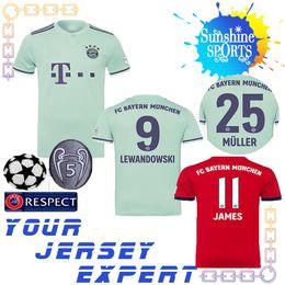 c0b3cb13070 Sudaderas verdes online-Bayern Munich 18 19 james Jersey de fútbol local  rojo 2019 muller