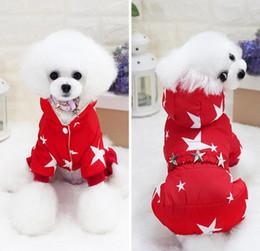 Grande stella di natale online-Doggie di Natale Caldo Animali domestici Abbigliamento per cani Autunno Inverno addensato Star Sky Pattern tute a quattro zampe Vestiti cappotto del cane